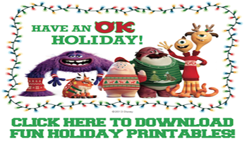 Monsters U Holiday Printables