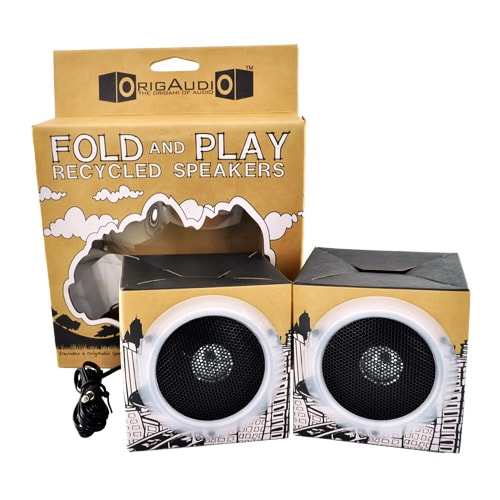 OrigAudio Fold n Play Recycled Speakers
