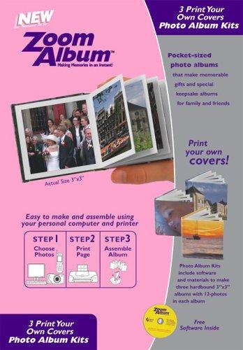 Zoom Album Three 3x3 Photo Covers Kit