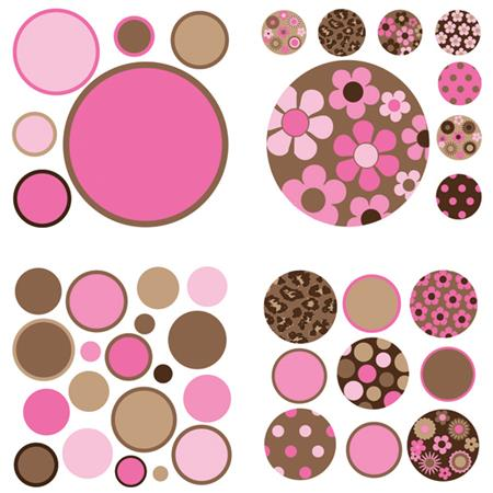 Brown and Pink Gone Dotty