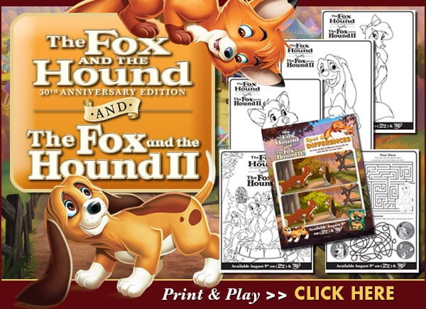 Fox and the Hound Printables