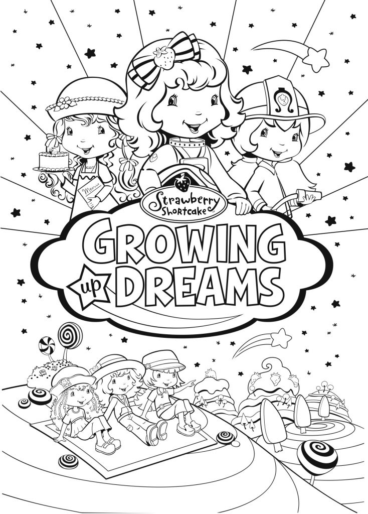 Strawberry Shortcake: Growing Up Dreams COLORING PAGE