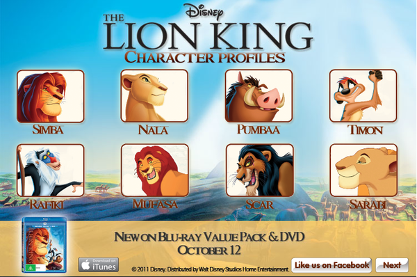 The Lion King 3D Characters