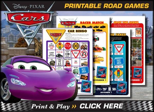 Download Printable Cars 2 Road Games!