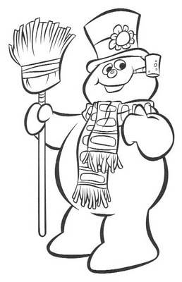 FROSTY Coloring Sheet