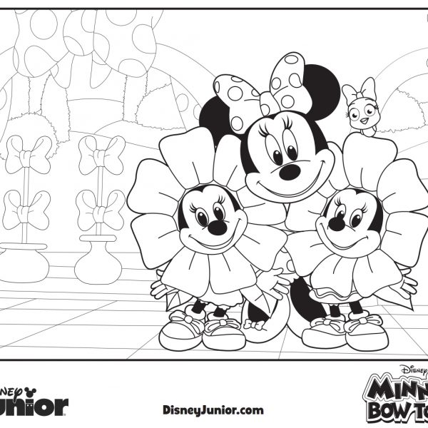 Minnies Bow Tunes Coloring Page
