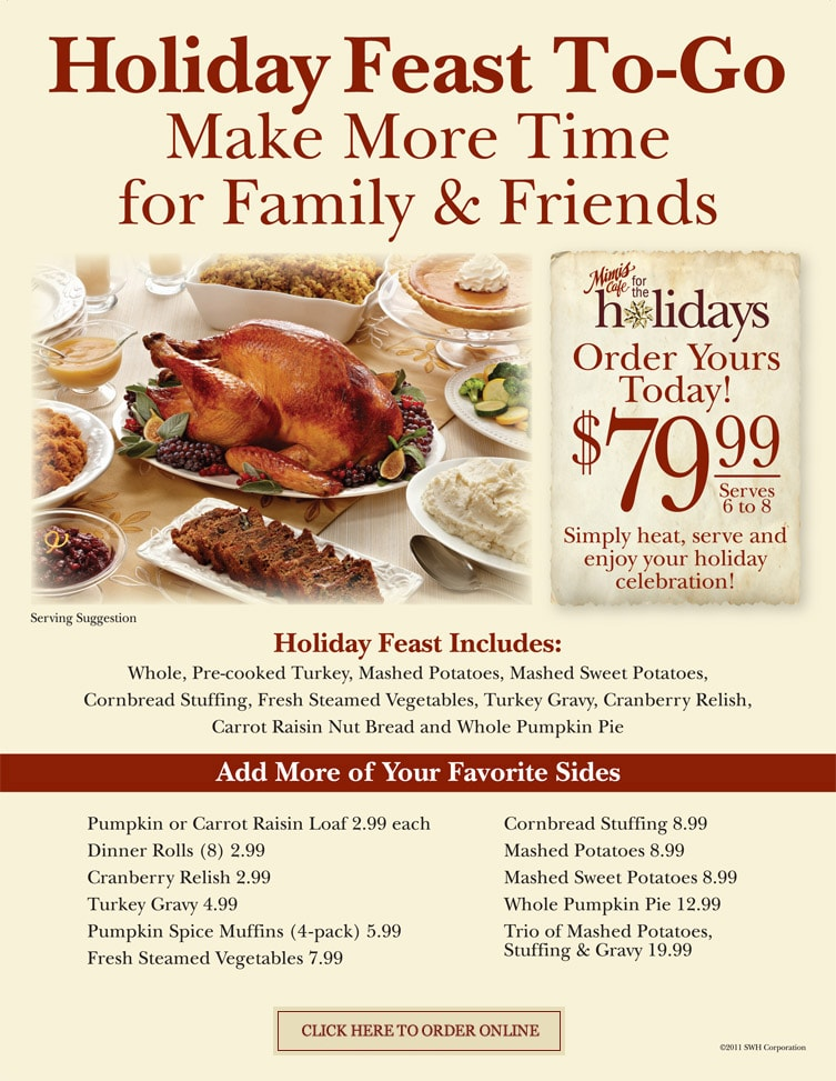 Mimi's Cafe Holiday Feast To Go