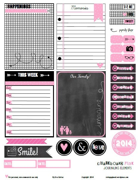 Chalkboard-Pink-journaling-elements