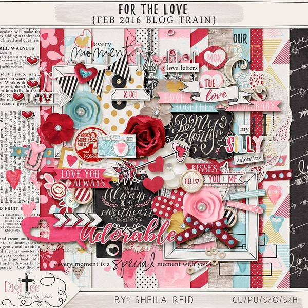 For the Love Scrapbooking Kit Freebie