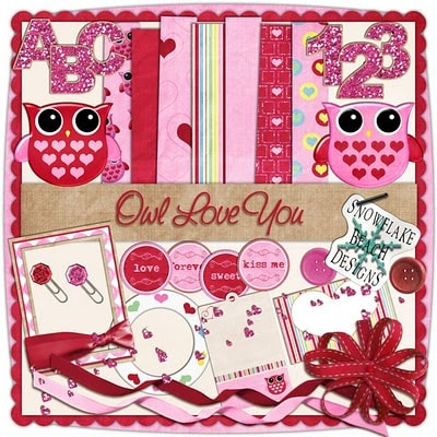 Owl Love You Digital Scrapbooking Kit!