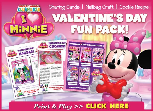 Minnie Mouse Valentine's Fun Pack