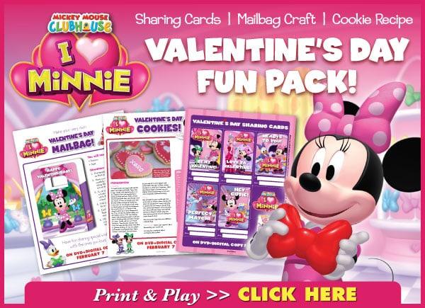 Minnie Mouse Valentine's Fun Pack