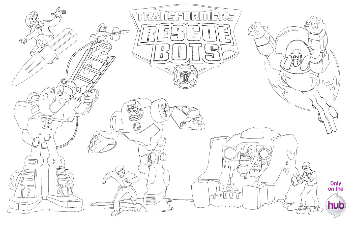 Transformers Rescue Bots Coloring Pages Coloring Pages Ideas