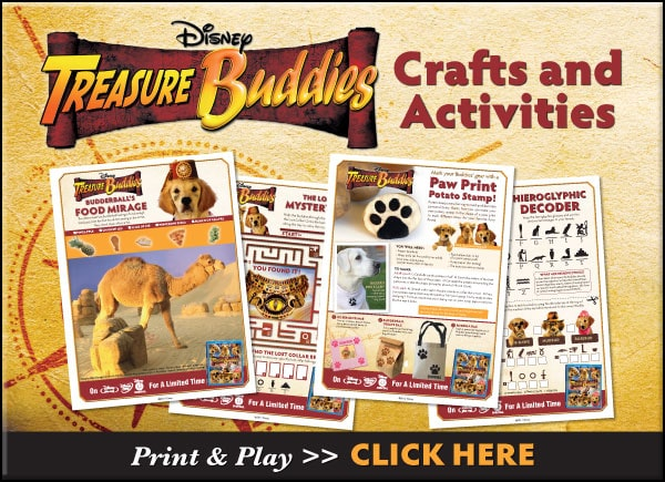 Treasure Buddies Printable Activities
