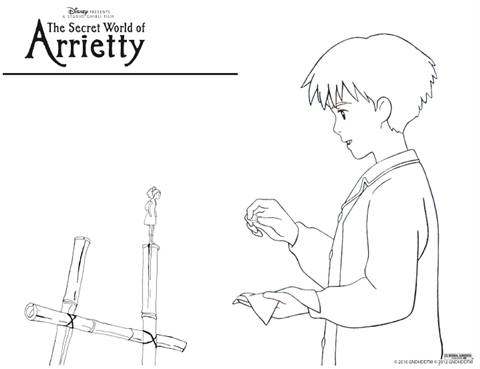 THE SECRET WORLD OF ARRIETTY Coloring Page
