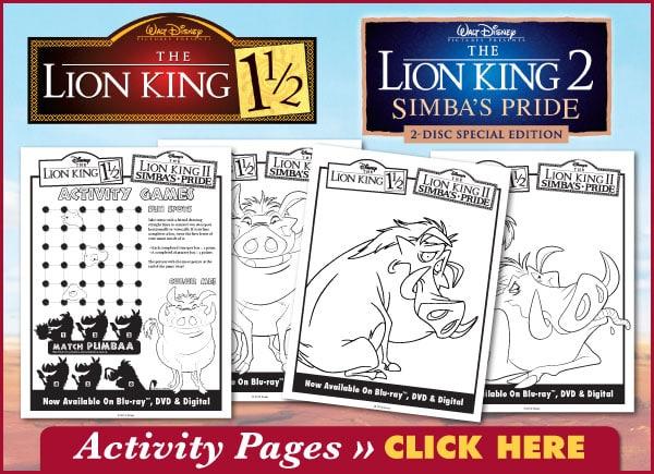 Download Lion King Printable Activities!