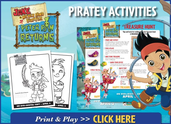 Jake and the Never Land Pirates Peter Pan Returns Piratey Activies