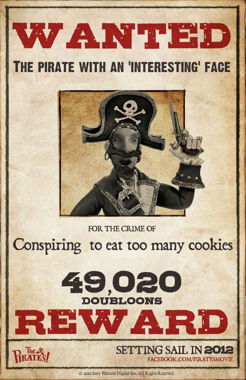 The Pirates! Band Of Misfits  Create A Wanted Poster Free