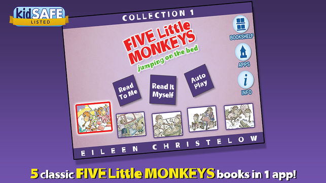 Five Little Monkeys Collection #1 Book App Review