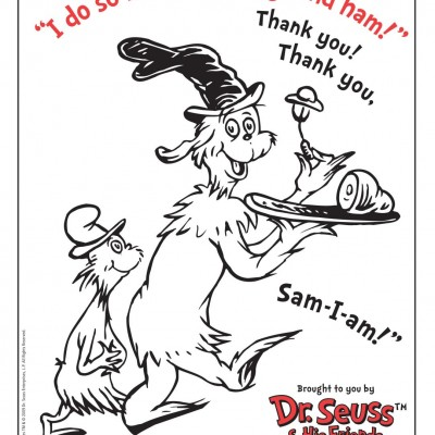 Dr. Seuss's Green Eggs and Ham + Download a Dr. Seuss Coloring Page