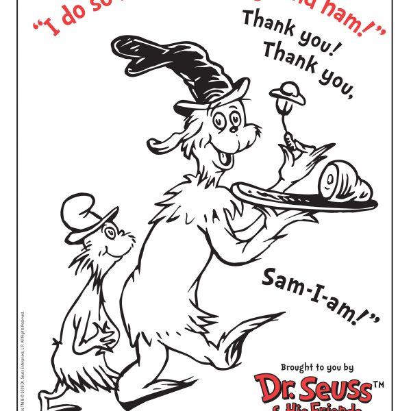 Dr. Seuss's Green Eggs and Ham ColoringPage