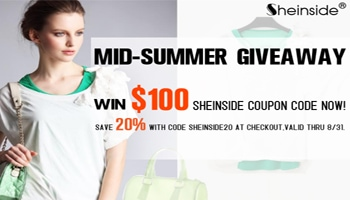 Mid Summer Fashion Giveaway $100 to Sheinside.com