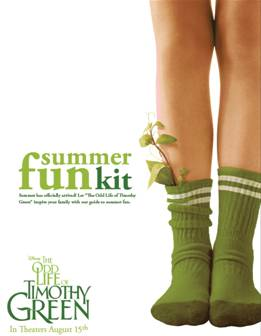 The Odd Life of Timothy Green Summer Fun Kit