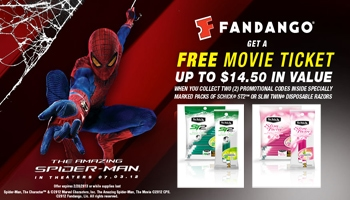 Win a Free Spiderman Movie Ticket with Schick Razors