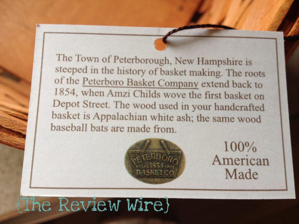 Peterboro Magazine Basket Review