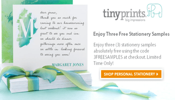 Get 3 FREE Stationary Products from Tiny Prints