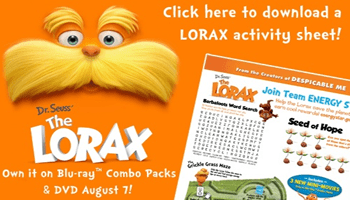 Dr. Seuss' The Lorax Review & Printable Activity Sheets