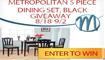 Metropolitan 5 Piece Dining Set Giveaway
