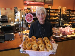 Panera Bread Pink Ribbon Bagels