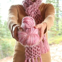 Breast Cancer Support Scarf Knit Kit