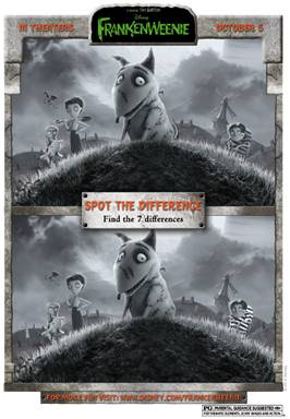 FRANKENWEENIE - Family Activity Sheets