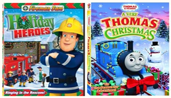Fireman Sam Holiday Heroes and A Very Thomas Christmas DVDs