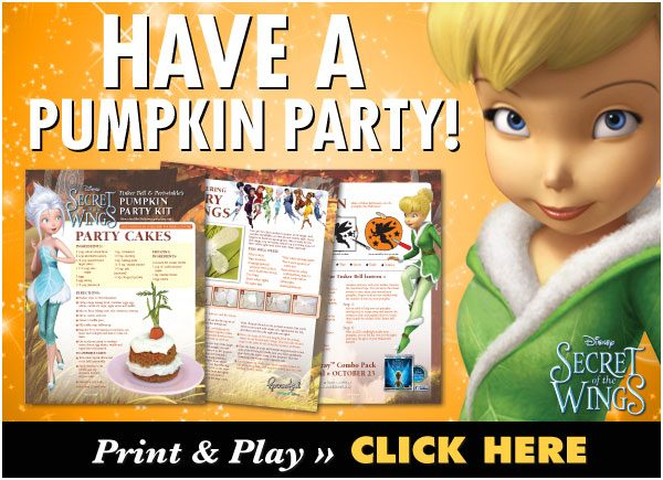 Have a Pumpkin Party with Tinker Bell Printable Activities