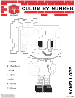 WRECK-IT RALPH Coloring Sheets