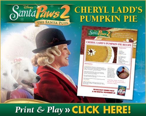 Cheryl Ladd's Pumpkin Pie Recipe!