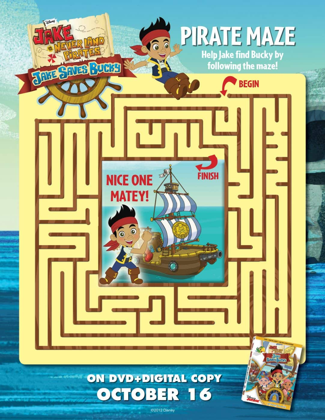 jake and the pirates never land pirates printables