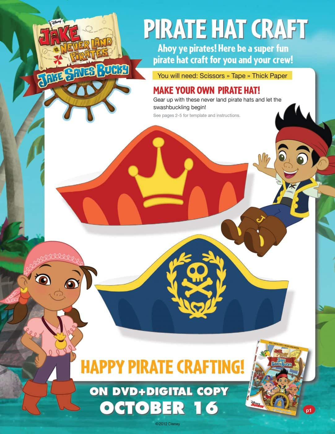 Pirate Hats Craft