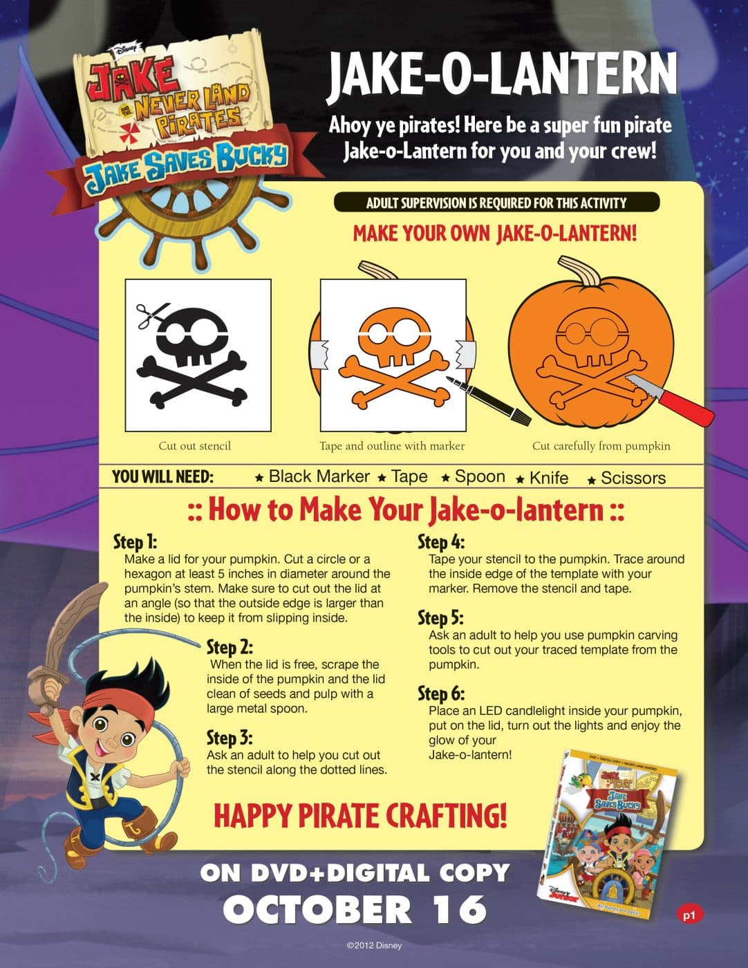 Pirates Stencils