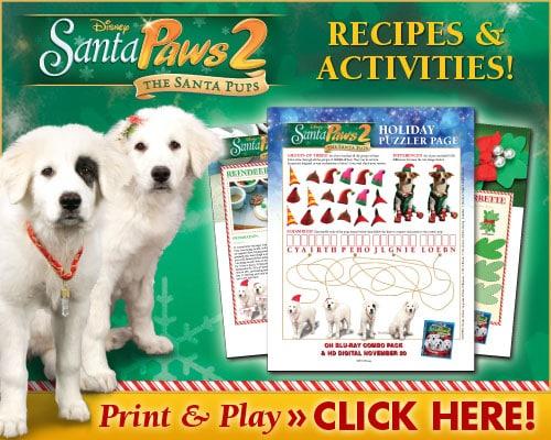 Santa Paws 2 Recipes & Activities