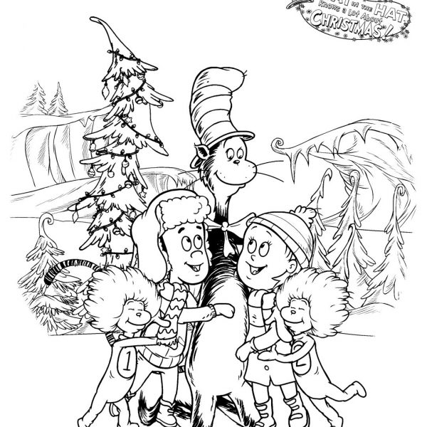 Download The Cat In The Hat Christmas Coloring Pages