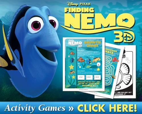Finding Nemo Activity Games