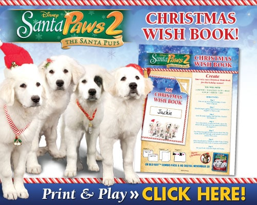 Santa Paws 2 Christmas Wish Book Printable