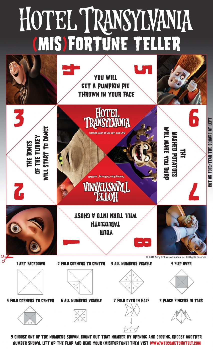Hotel Transylvania Cootie Catcher
