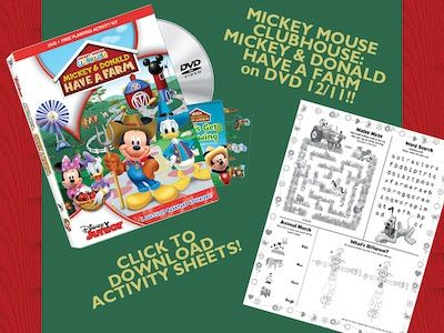 Mickey And Donald Have A Farm Printables