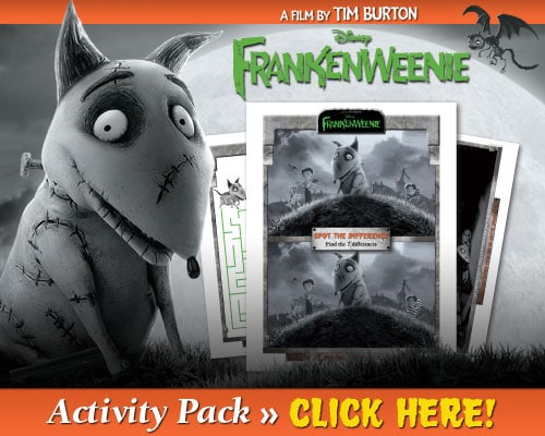 The Review Wire - Frankenweenie Activity Pack
