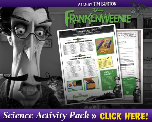The Review Wire - Frankenweenie Science Activity Pack